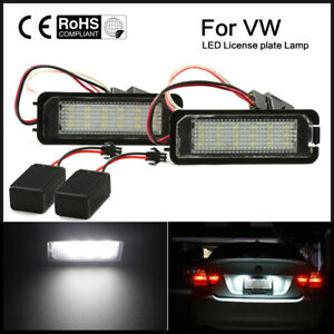Car Led License Plate Light Bulb For Vw Golf Mk4 Mk5 Mk6 Passat Eos Error Free