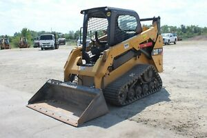 Used Cat 257d 2017 Compact Track Loader Skid Steer Two Speed 15 Tracks