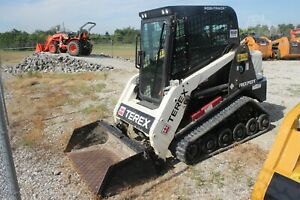 Used Terex R070t Compact Track Loader Skid Steer Enclosed Heat Single Owner
