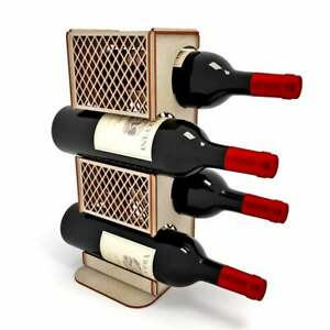 Dxf Cdr Svg Laser Cutting Files Plan For Cnc Wine Rack
