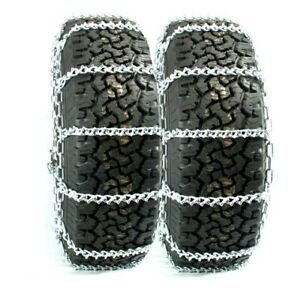 Titan Truck V Bar Link Tire Chains Dual On Road Ice Snow 7mm 245 70 19 5