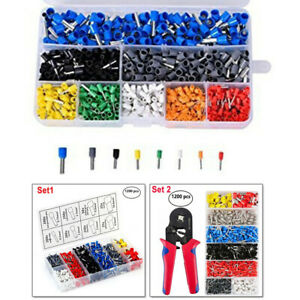 1200pcs Copper Crimp Connector Insulated Electrical Wire Terminal Cable Assorted