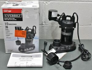Everbilt Submersible Sump Pump Hdps33v 1 3 Hp 1 1 2 Fnpt Discharge 36 Gpm