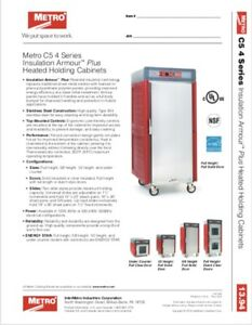 Metro C5 4 Series Insulation Armourtm Plus Heated Holding Cabinets Free Shipping