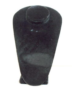 Black Velvet Necklace Pendant Chain Jewelry Bust Display Holder Stand 10 Tall
