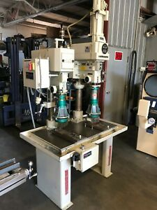 Clausing Drill Press W Power Feed Head Rmt Reynolds Automatic Tapping Head