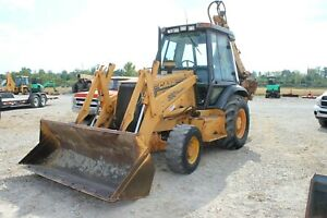 Used 1999 Case 580sl Ii Backhoe Loader Extendahoe Enclosed Cab Extra Buckets