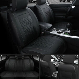 Moon 5 Seat Car Suv Pu Leather Seat Cover Front Rear For Honda Accord Civic Cr V