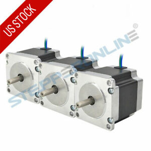 3pcs Nema 23 Stepper Motor 1 26nm 179oz in 56mm 2 8a 6 35mm Shaft Cnc Hobby