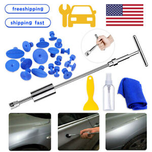 Us Car Body T Bar Paintless Hail Damage Remover Repair Kit Dent Tool Auto House