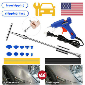 Us Car Hail Damage T Bar Hammer Paintless Dent Tools Remover Repair Gun Kit Auto