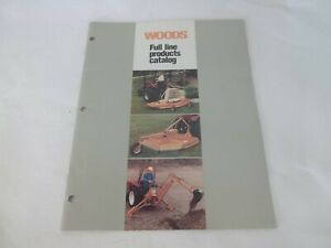 Woods Full Line Products Catalog Incl Mowers Backhoes Scraper Blades Cutters