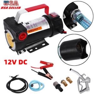 Dc 12v Electric Diesel Fluid Extractor Auto Oil Transfer Pump With Fuel Nozzle