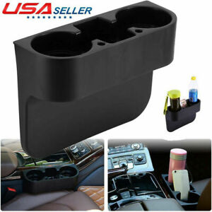 Auto Car Seat Dual Cup Holder Food Drink Bottle Mount Stand Storage Organizer U