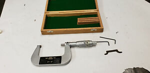 Tesa 2 3 X 0001 Digit Counter Outside Micrometer Carbide Tip W tools In Box