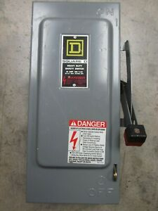 Square D H361 Safety Switch 30 Amp 3 Pole 600 Vac Type 1 Fusible 382