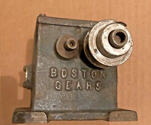 Vintage Boston Gears 400 1 Worm Drive Speed Reducer