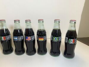 1994 WORLD CUP COCA-COLA BOTTLES BRAZIL / USA / MEXICO / GERMANY / ITALY/ ARGENT