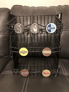 3 Tier Candy Counter Black Display Rack
