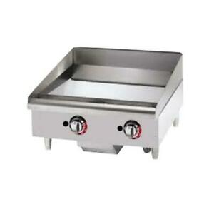Star 624tchsf Star max 24 In Chrome Gas Griddle