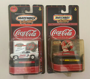 Matchbox Collectibles Coca Cola 1970 Pontiac GTO & Hydroplane Lot of 2 NEW