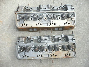 Pair Of Gm 1962 1964 Oldsmobile Starfire Rocket 394 Cylinder Heads 583832