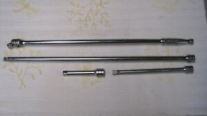 Snap On 1 2 Drive 24 Breaker Bar And Extensions Lot