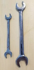 2 Vintage Bonney Wrenches Full Polish 7 16 1 2 5 8 3 4 Mint Usa Made
