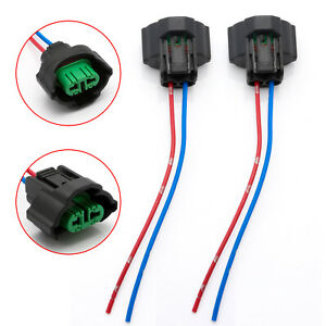 2x Wire Pigtail Female H8 H11 Harness Fog Light Bulb Plug Play Connector Lamp Oe