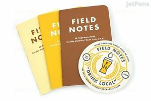 New Field Notes Drink Local Lagers Sealed Pack Of 3 Notebooks W Coaster