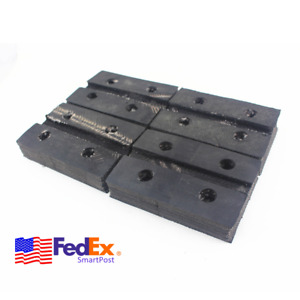 4x Rectangle Rubber Post Lift Arm Pads Rubber Jack Pad For Auto Car Truck Hoist