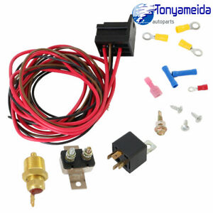 Fan Thermostat Temperature Switch Relay Kit 185 Degree For 302 351w Engine