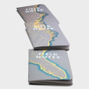 New Field Notes Coastal East Sealed Set Of 3 Notebooks