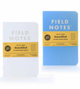 New Field Notes Snowblind Sealed Set Of 3 Memo Books