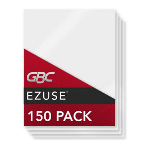 150 Gbc Ezuse Thermal Laminating Sheets pouches Letter Size Speed Pouch 3 Mil