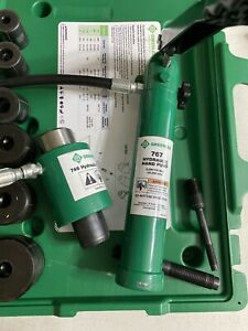 Greenlee 7306sb Knockout Set And Hydraulic Driver 767 746