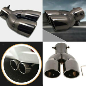 Car Exhaust Trim Tip Dual Muffler Pipe Throat Pipe For Toyota Hyundai Ix25