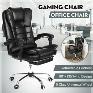 Executive Office Chair High Back Computer Swivel Leather Racing Gaming Chairs Us