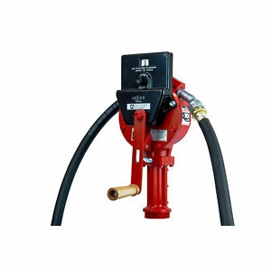 Fill rite Fr112c Fuel Transfer Rotary Hand Pump W Suction Pipe Hose Counter