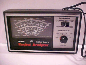 Vintage Sears Engine Analyzer Model 161 216300 Owners Manual Box Exc Cond