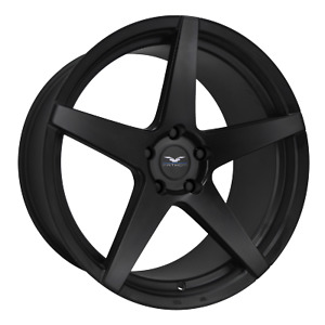 22 Inch 5 X 120 4 Wheels Rims Fathom Wheels Stern 22x9 25mm Black