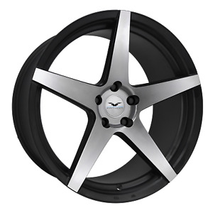 22 Inch 5 X 120 4 Wheels Rims Fathom Wheels Stern 22x9 25mm Black Machined