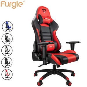 Office Chair High Back Computer Racing Gaming Chair Ergonomic Chair Footrest Us