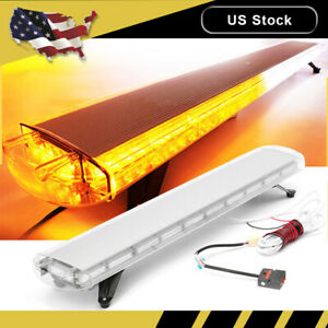 47 88 Led Amber White Emergency Strobe Light Bar Warning Tow Truck Response Usa