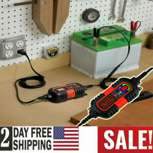 Car Rv Truck Motorcycle Battery Charger Maintainer 6v 12v Amp Volt Smart Trickle