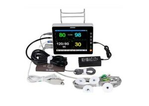 Veterinary Monitor Multi Parameter Spo2 Nibp Pr Resp Ecg Temp Etco2 8 Inches Led