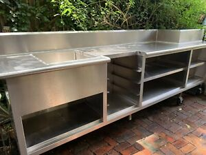 Commercial Stainless Steel Sink Basin Shelving From Bellevue Hotel