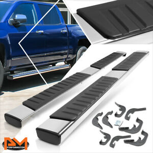 For 07 19 Silverado sierra Crew Cab 6 Side Step Nerf Bar Running Board Chrome