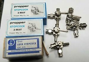 Lot Of 8 Propper 3 Way Stopcocks D