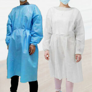 Disposable Non Woven Drawstring Isolation Breathable Protection Suit Unisex